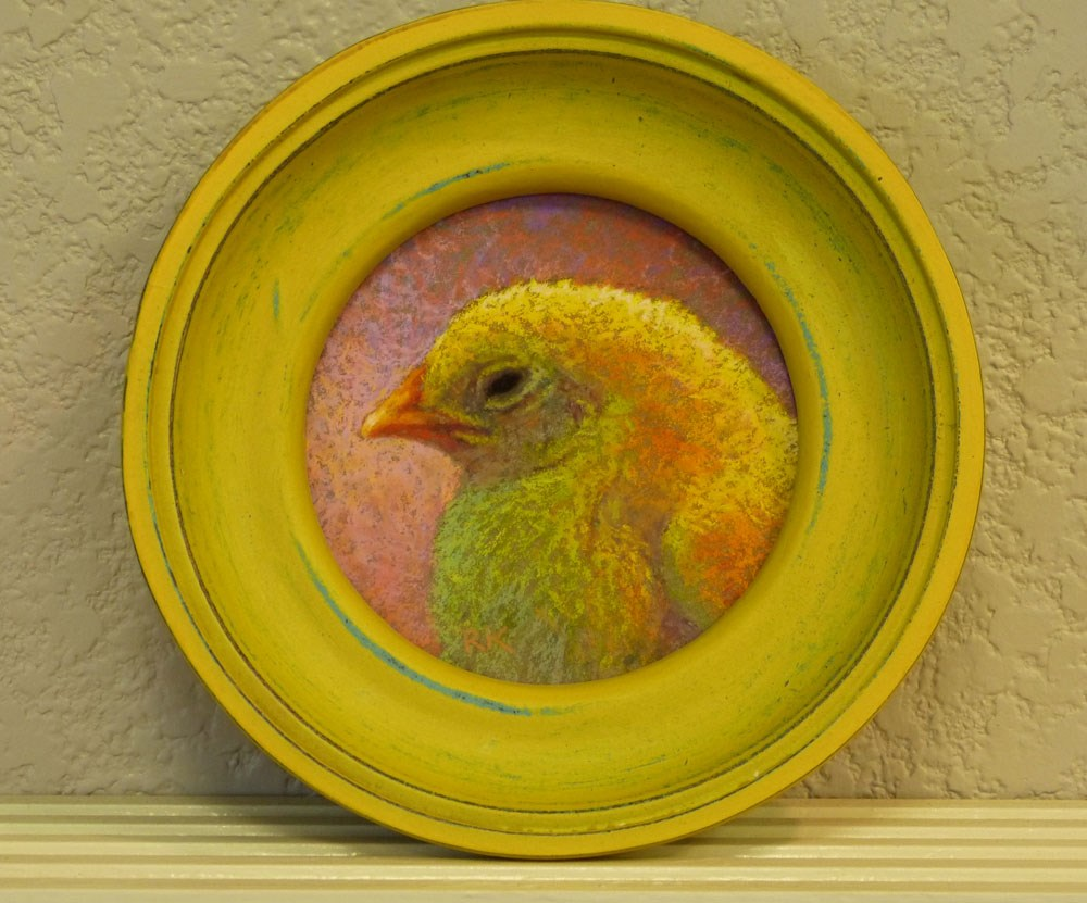 """Chick Profile #2"" original fine art by Rita Kirkman"