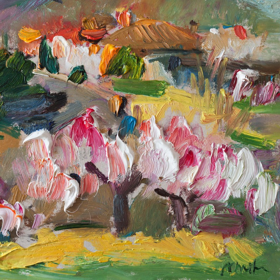 """Flowering Almond Trees"" original fine art by Anna  Fine Art"