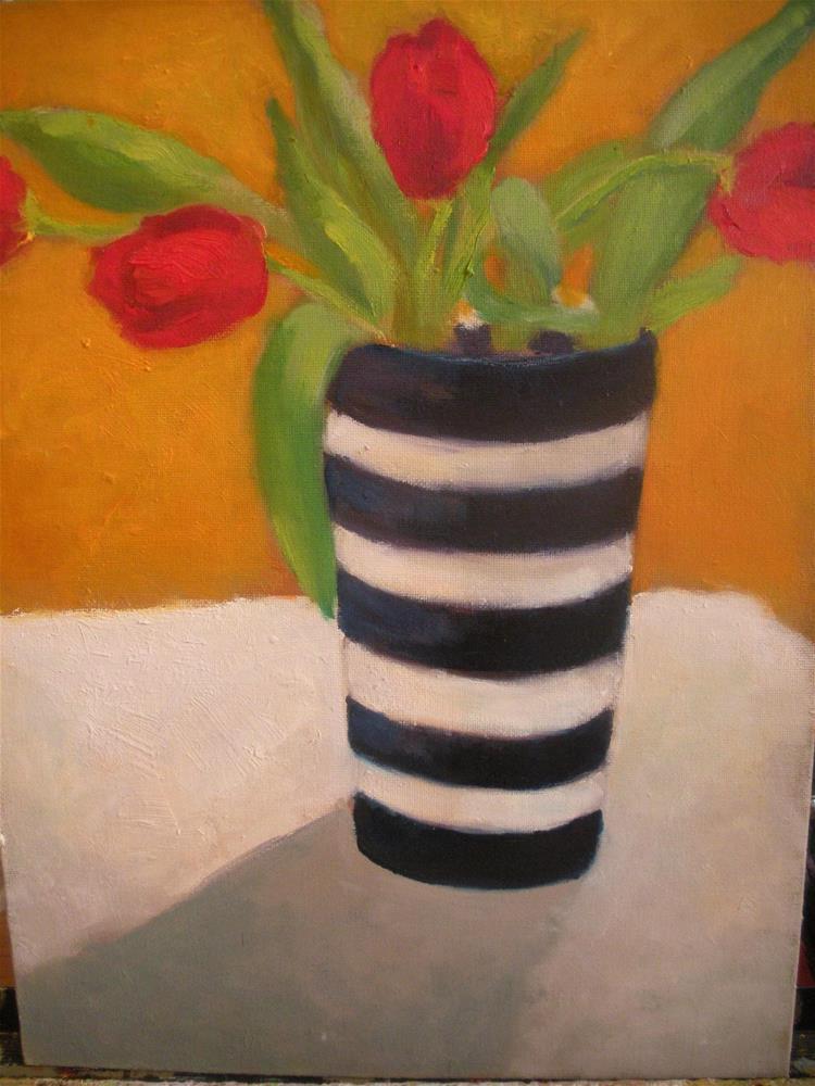 """Red tulips"" original fine art by barbara quast"