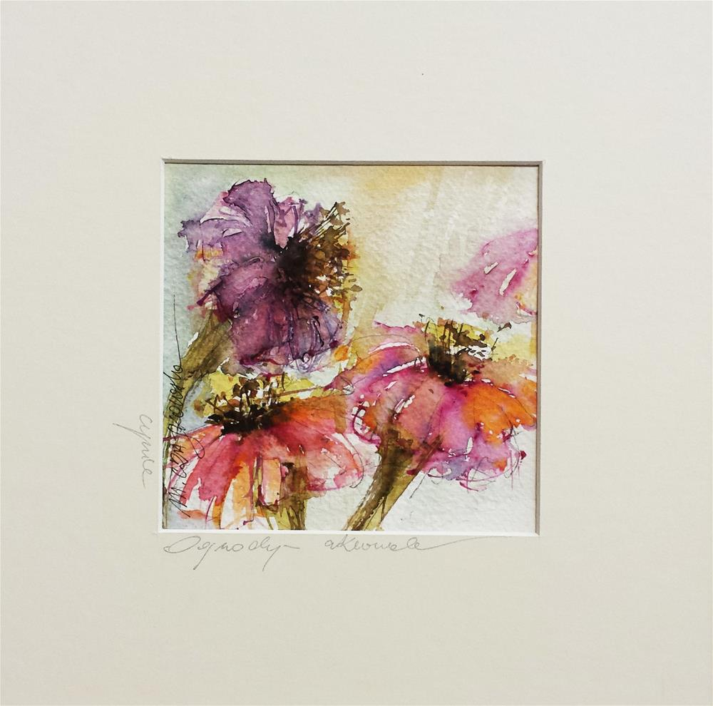 """Zinnia"" original fine art by Marlena Czajkowska"