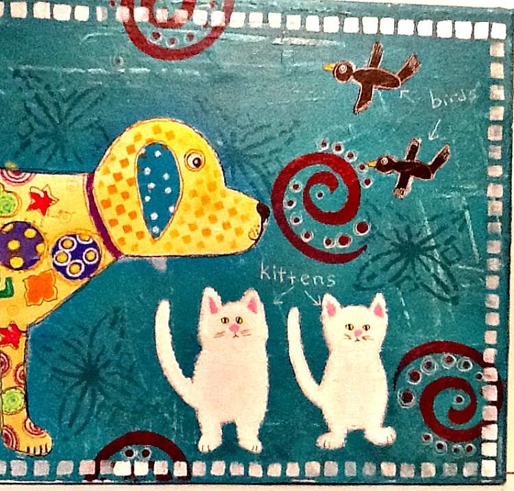 """SNIFFING KITTENS"" original fine art by Cindy Zoglmann"