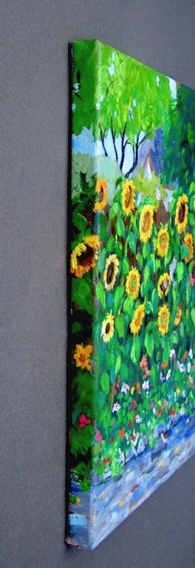 """Storybook Sunflowers"" original fine art by Patricia Musgrave"