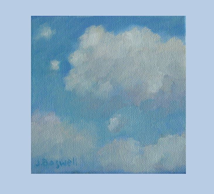 """Cloud Study #12"" original fine art by Jennifer Boswell"