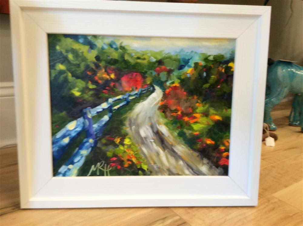 """Framed On the Road Again"" original fine art by Molly Rohrscheib Hathaway"