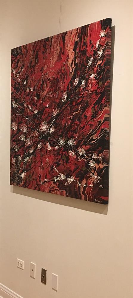 """""""Japanese Garden"""" original fine art by Khrystyna Kozyuk"""