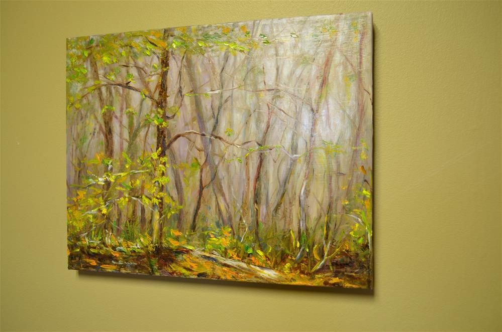 """""""Sunlight in foggy hill side"""" original fine art by Sun Sohovich"""
