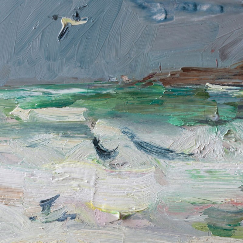 """Stormy Sea and Seagull"" original fine art by Anna  Fine Art"