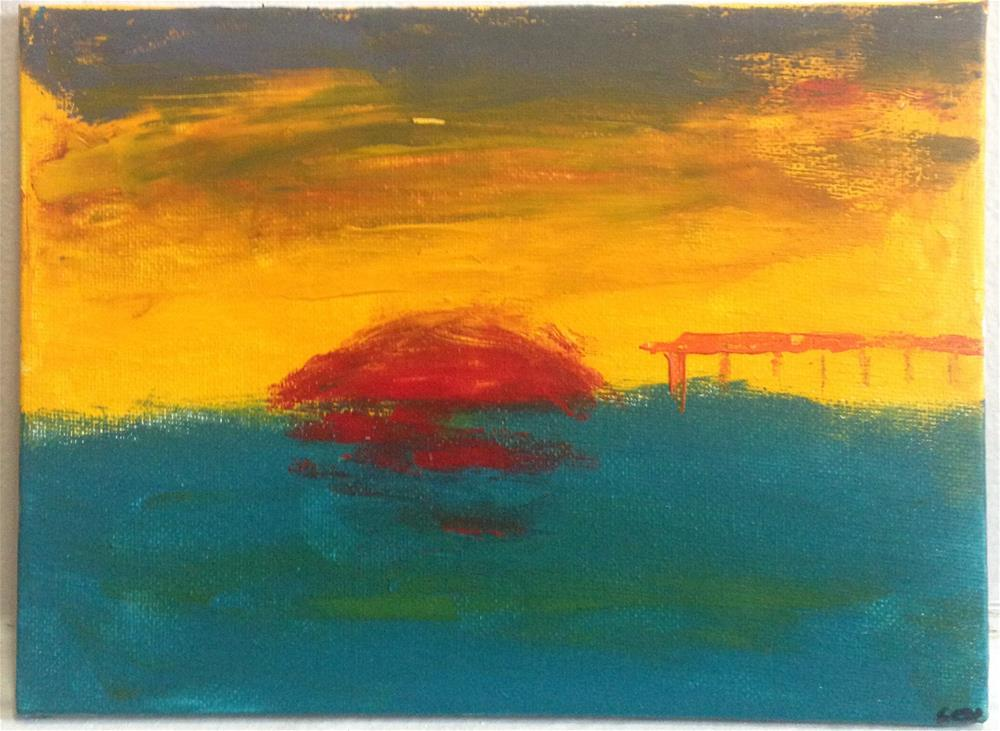 """Sunset"" original fine art by Ellis Charles Hoffmeister"