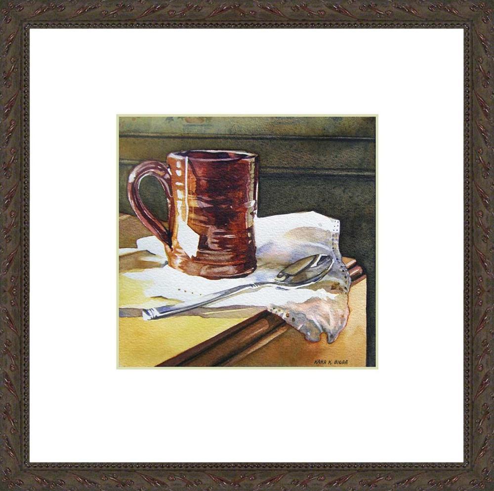"""Redware Tea"" original fine art by Kara K. Bigda"