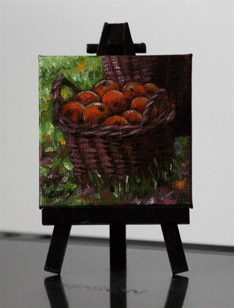 """Apple Basket"" original fine art by Linda Eades Blackburn"