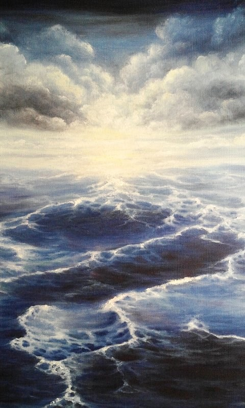 """Oil Painting Seascape "" original fine art by Camille Morgan"