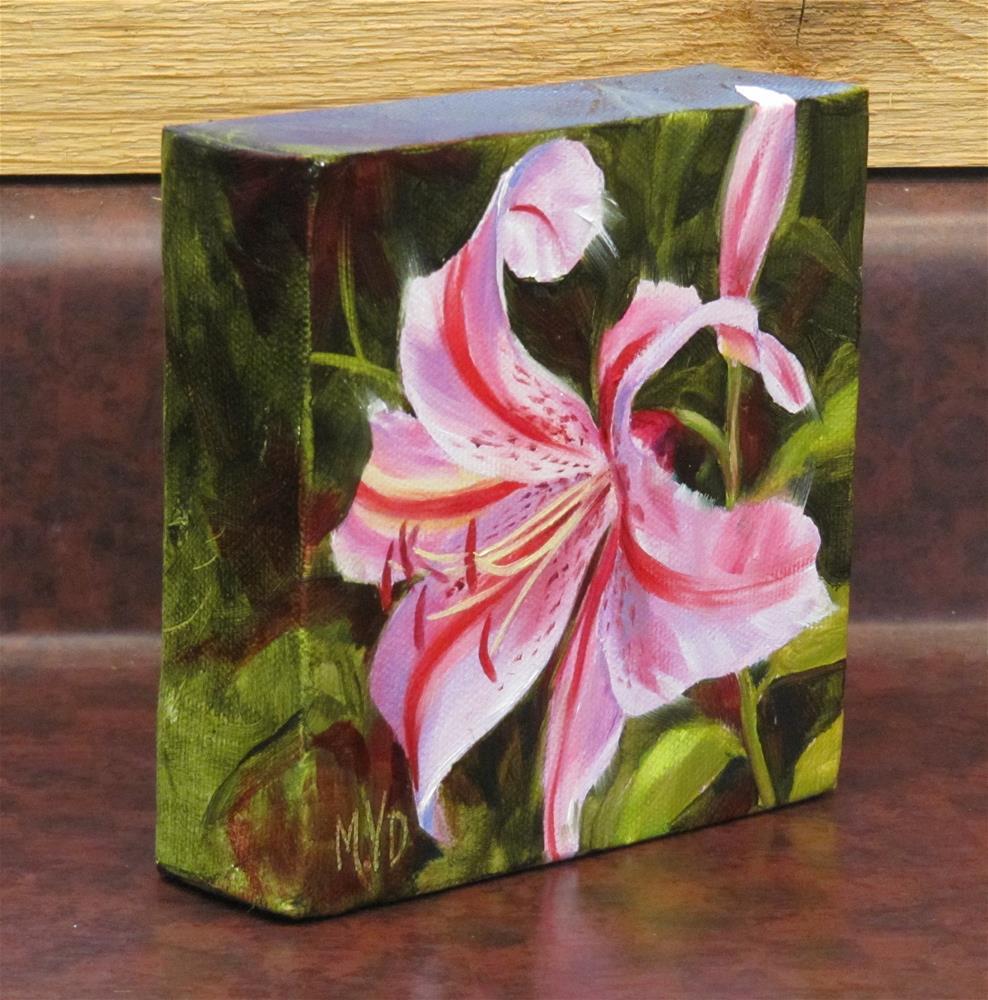 """Pink Lily"" original fine art by Mary Van Deman"