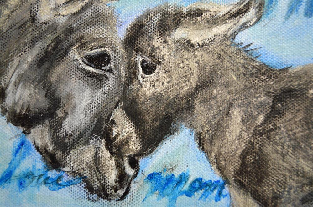 """Mommy and me Donkey"" original fine art by Sun Sohovich"