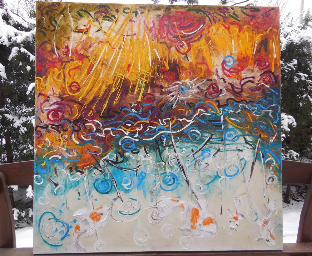 """Sun and Sea"" original fine art by Elena Lunetskaya"