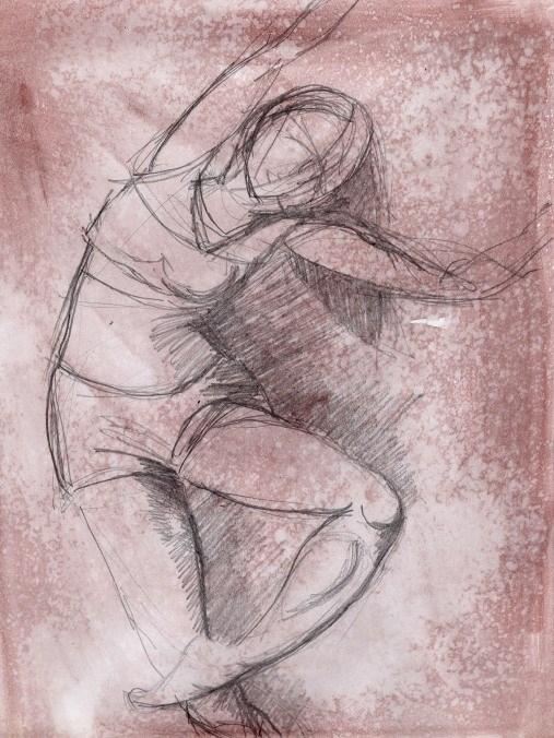 """Dance 7, the hidden language"" original fine art by Richard Huston"