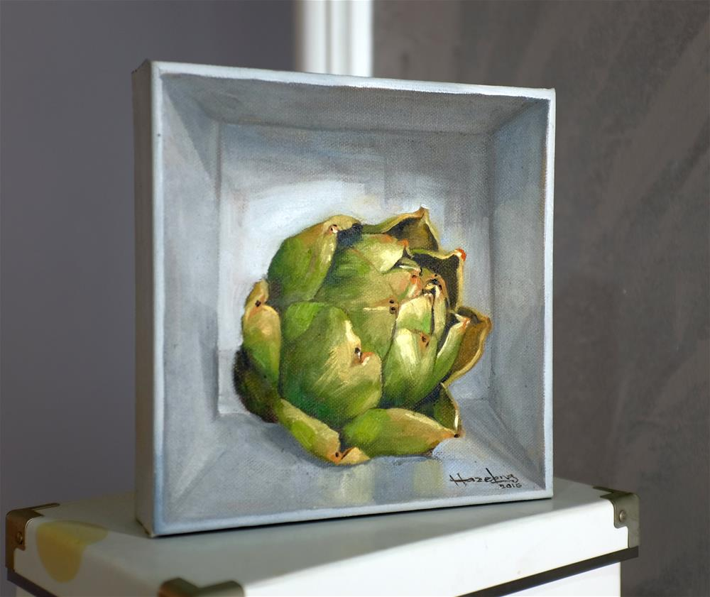 """Artichoke in a box"" original fine art by Haze Long"