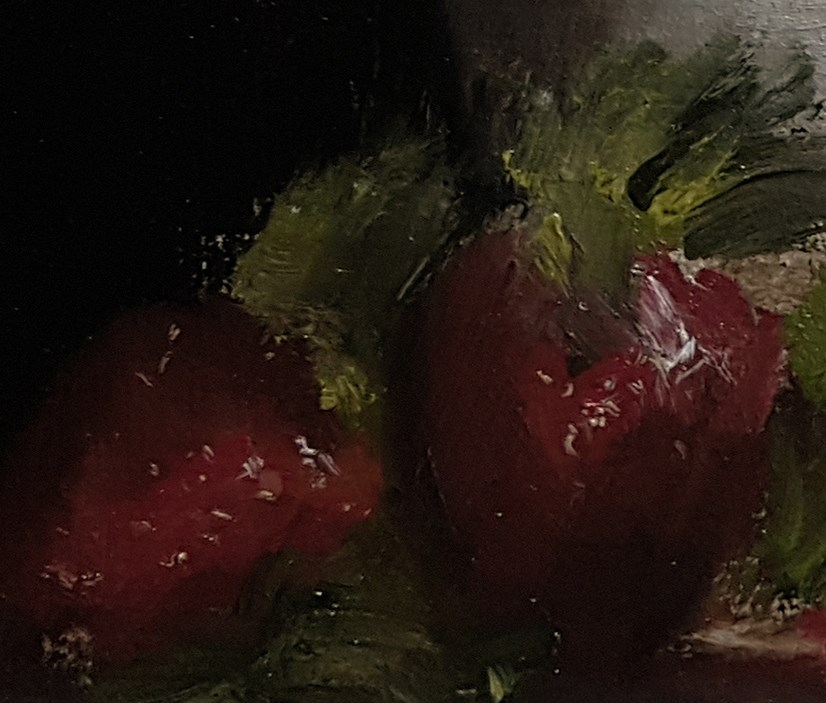 """""""Strawberries with Vase"""" original fine art by Neil Carroll"""