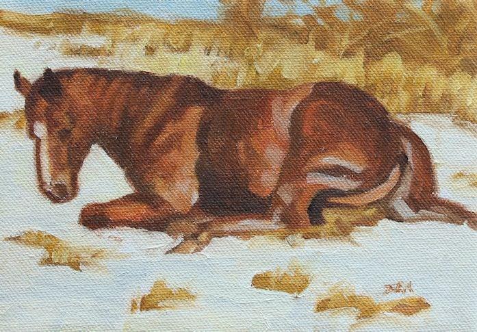 """Winters Nap"" original fine art by Susan Ashmore"