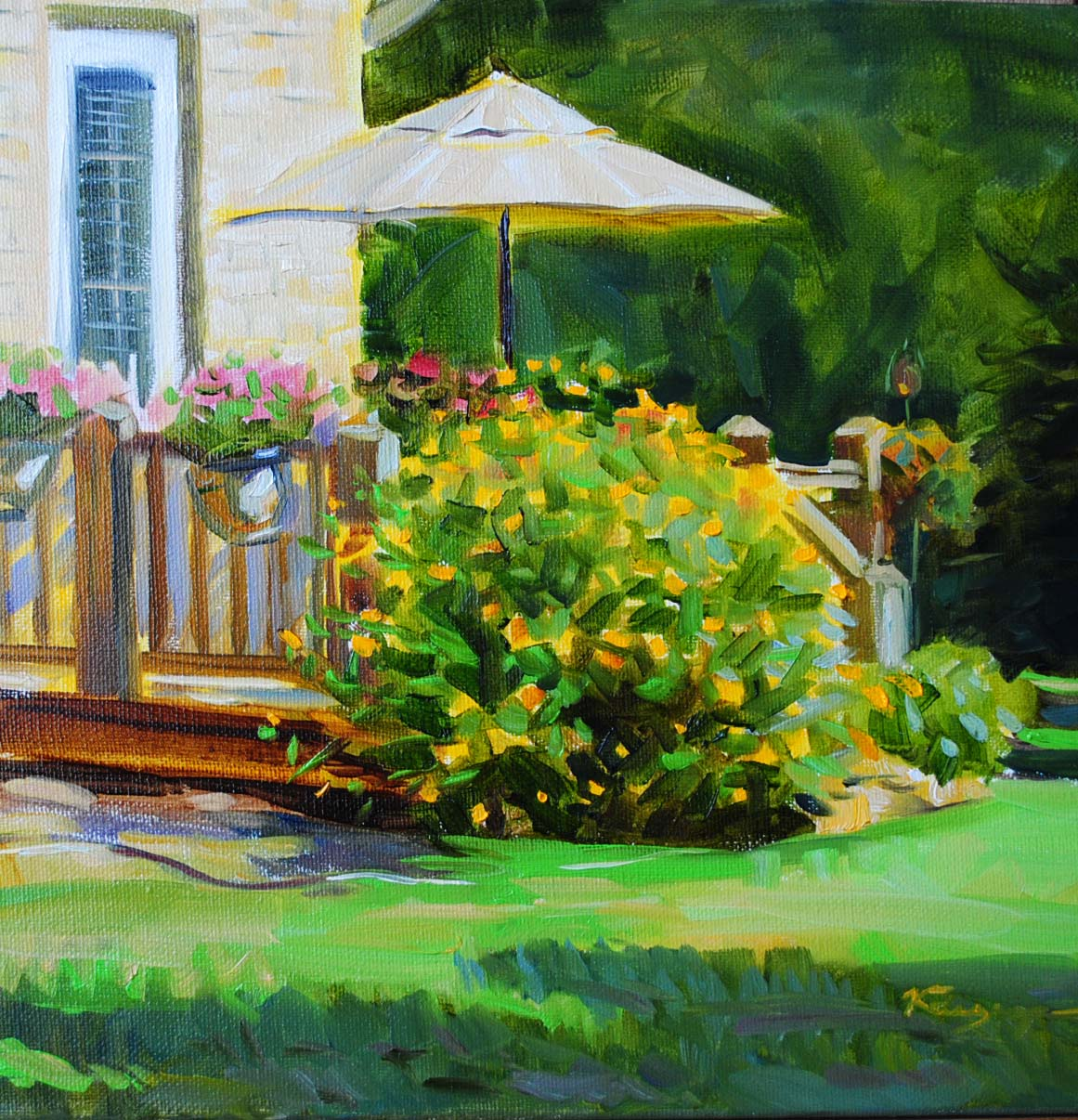 """Susie's Backyard"" original fine art by Elena Katsyura"