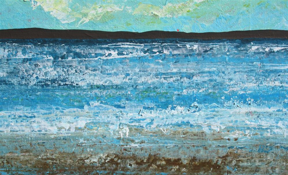 """Waves at the Beach"" original fine art by Sage Mountain"