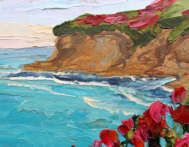 """California Pacific Cliffs"" original fine art by lynne french"