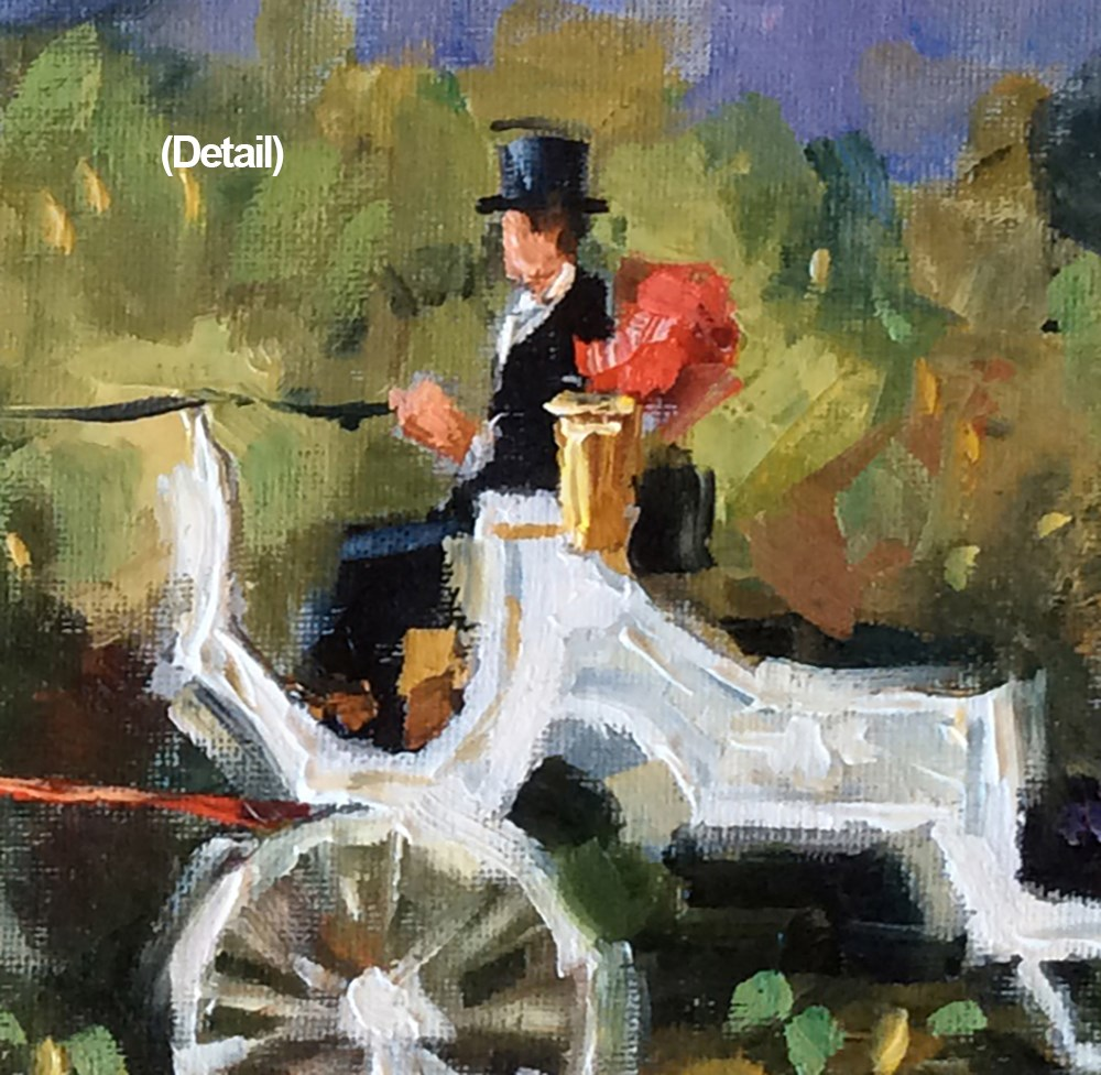 """New York Horse-Drawn Carriage Ride"" original fine art by Tom Brown"