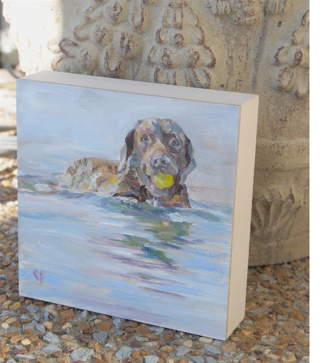 """Waterdog"" original fine art by Carol DeMumbrum"
