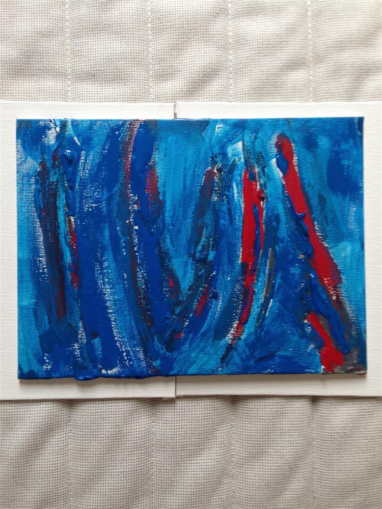 """""""Blue Wonder"""" original fine art by Ellis Charles Hoffmeister"""