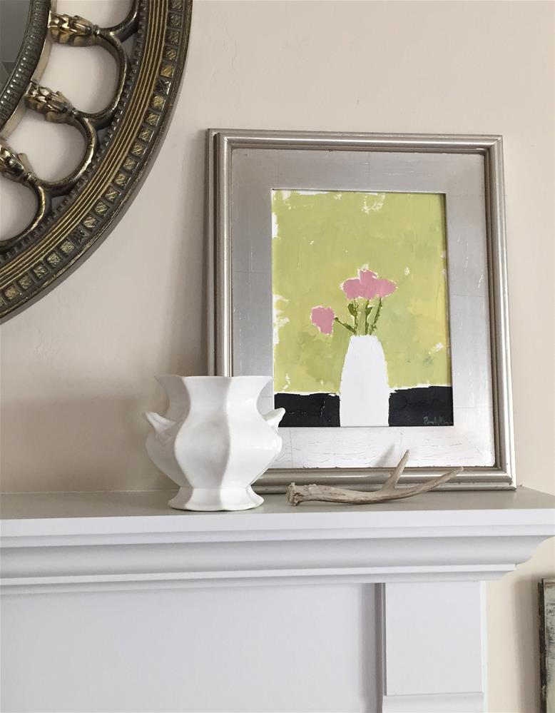 """""""Little Pink Flowers"""" original fine art by Pamela Munger"""