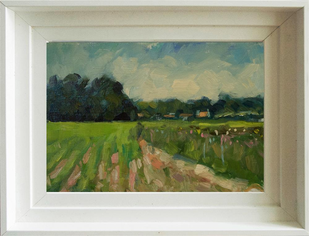 """Field and Track at Climping"" original fine art by Andre Pallat"