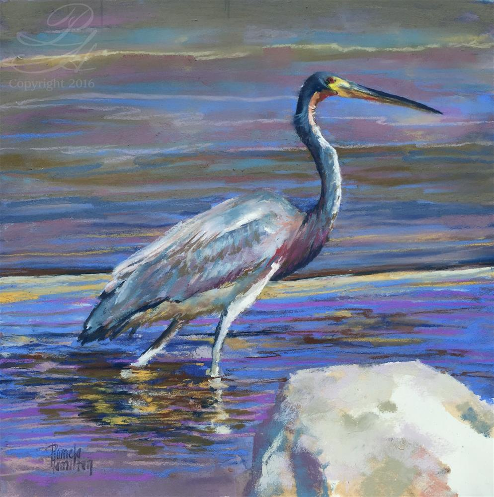 """Heron"" original fine art by Pamela Hamilton"