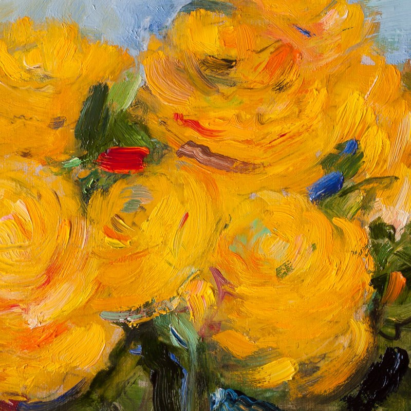 """Yellow Ranunculus"" original fine art by Anna  Fine Art"