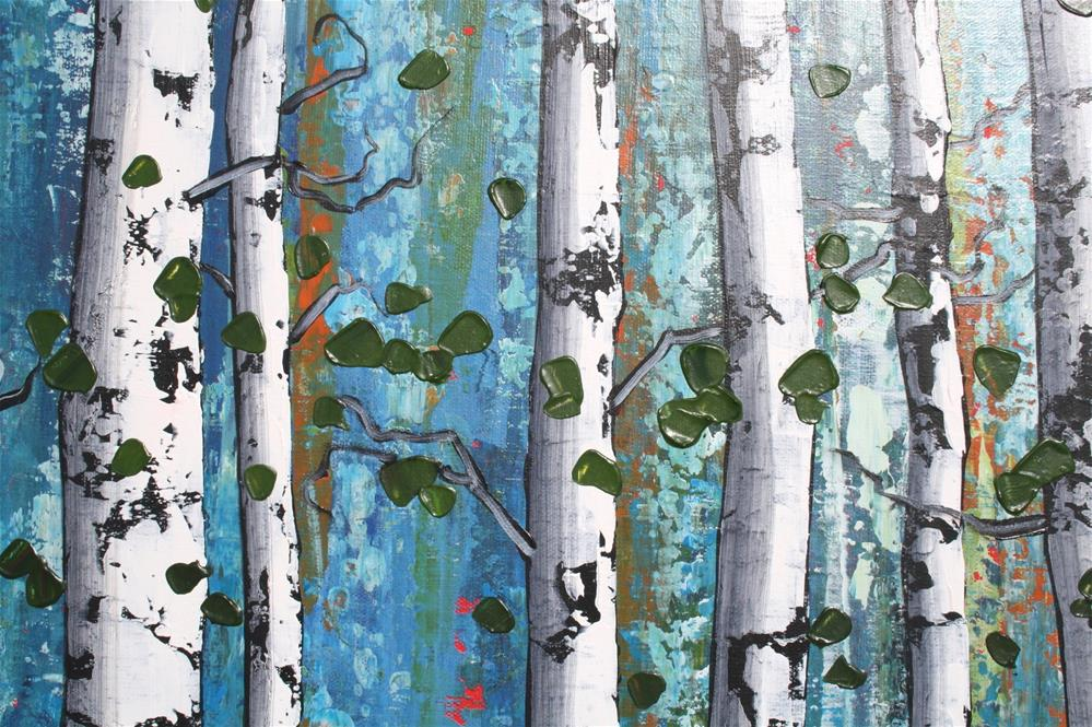 """Walk Among the Birches"" original fine art by Sage Mountain"
