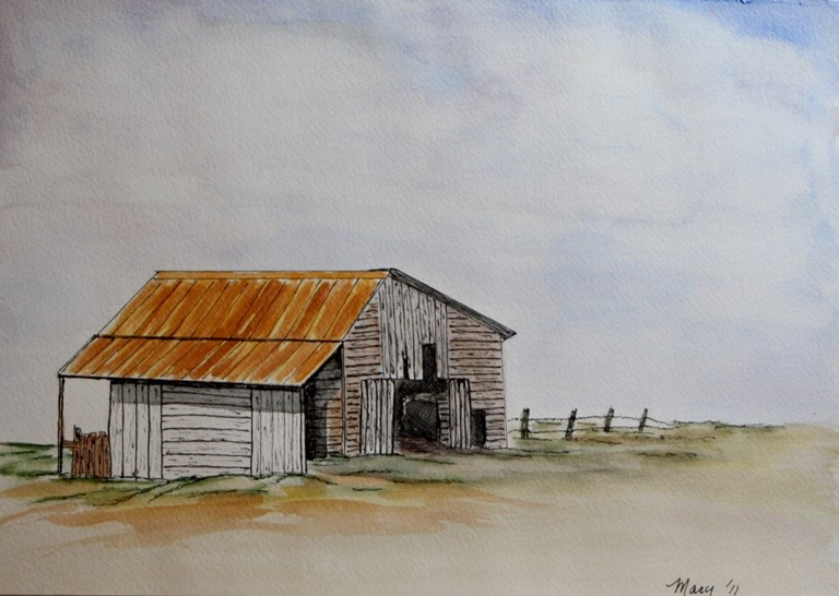"""Abandoned Barn"" original fine art by Mary Datum"