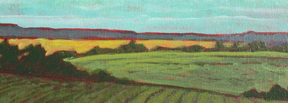 """Summer Crops"" original fine art by Sage Mountain"