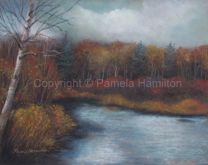 """Cadillac Autumn"" original fine art by Pamela Hamilton"