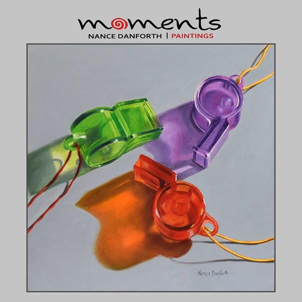 """Toy Whistles"" original fine art by Nance Danforth"