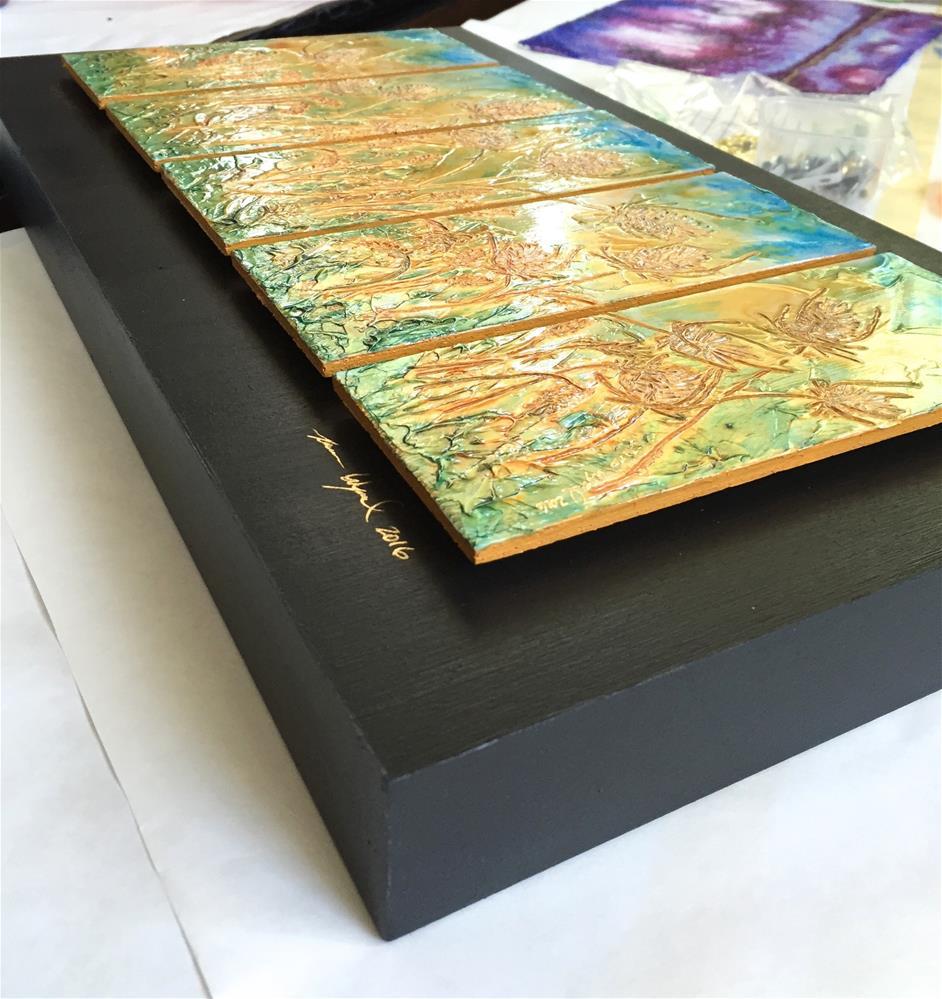 """Thistle Field"" original fine art by Karen Wysopal"