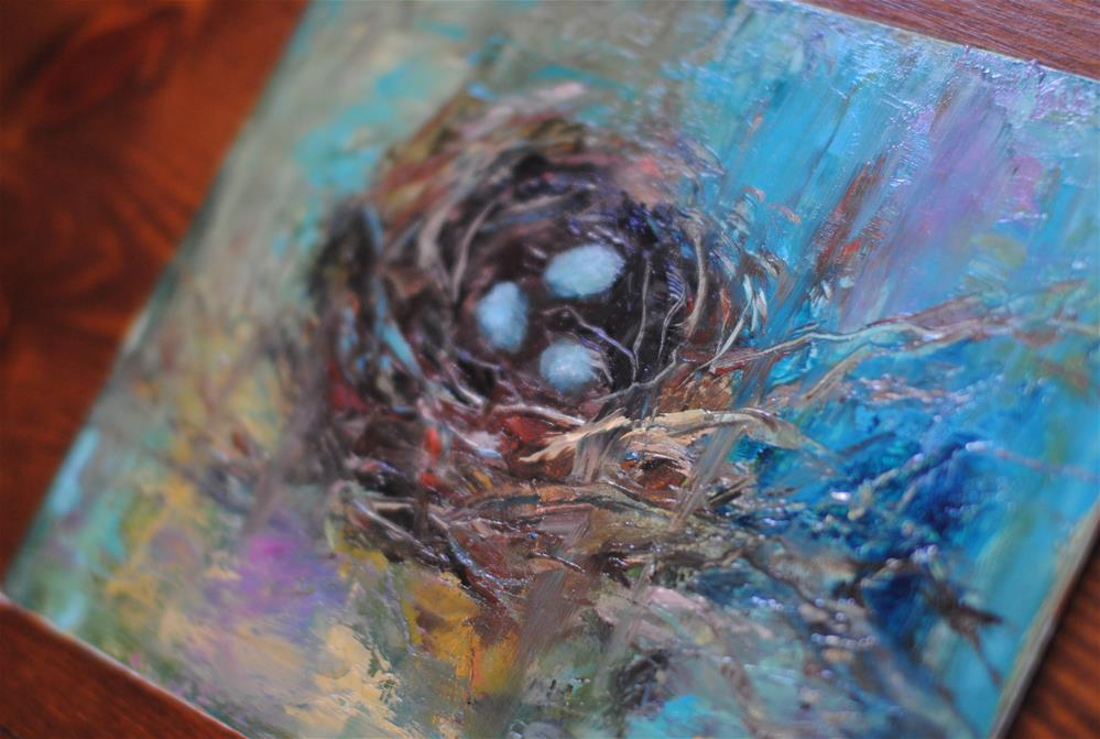 """Cardinal Nest"" original fine art by Kelly Berkey"