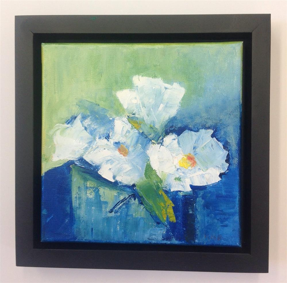 """Blue and White"" original fine art by Karen Pinard"