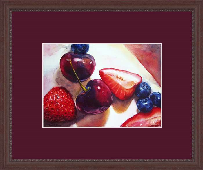 """Berries and Cherries"" original fine art by Kara K. Bigda"