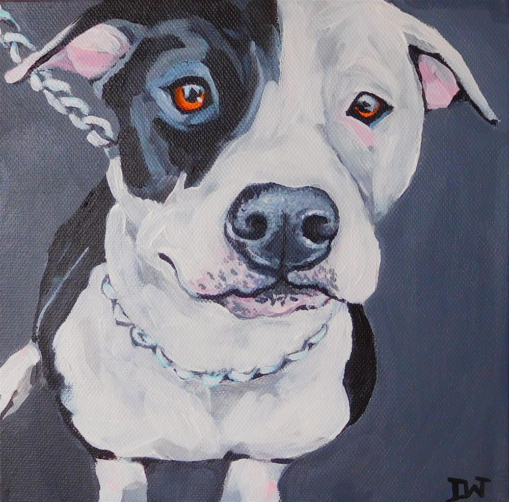"""Staffie"" original fine art by Daryl West"