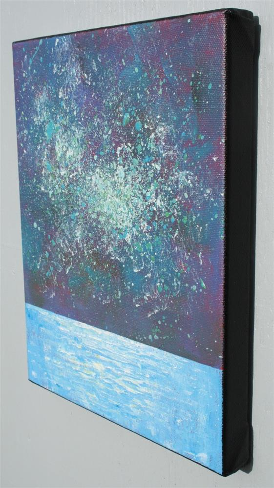 """Starry Night Ocean"" original fine art by Sage Mountain"