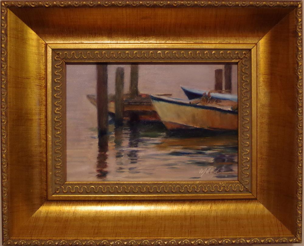 """Evening's Mooring"" original fine art by Marilyn R. Place"
