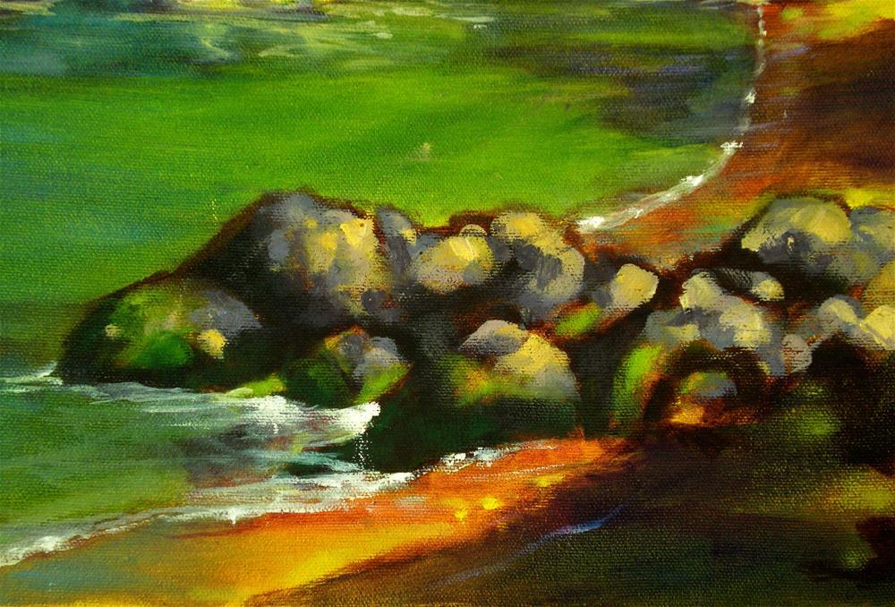 """""""Waialea Morning Calm - 150300"""" original fine art by richard rochkovsky"""