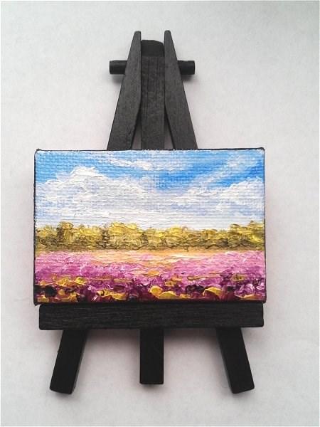 """Lavender Fields"" original fine art by Camille Morgan"