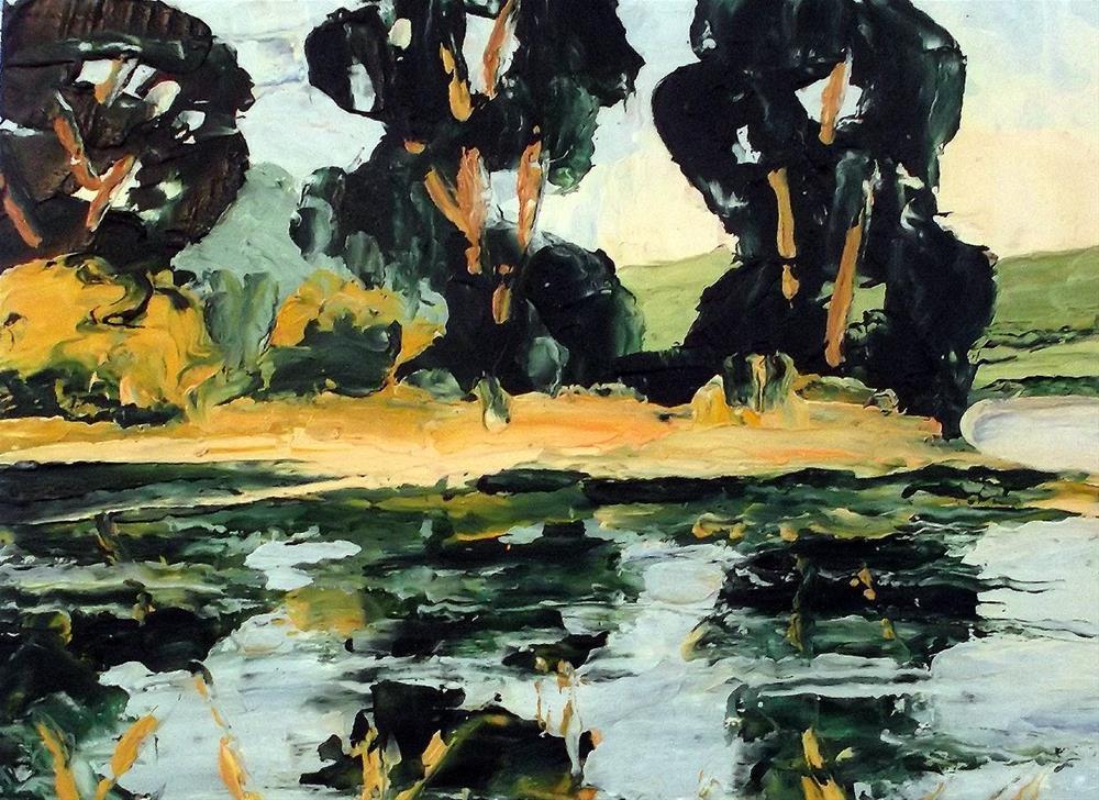 """Eucalyptus Marsh"" original fine art by lynne french"