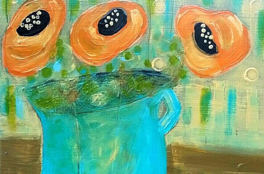 """Summer Poppies II"" original fine art by Christy Tremblay"