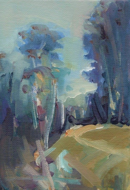 """Back track near the River"" original fine art by Anne Wood"