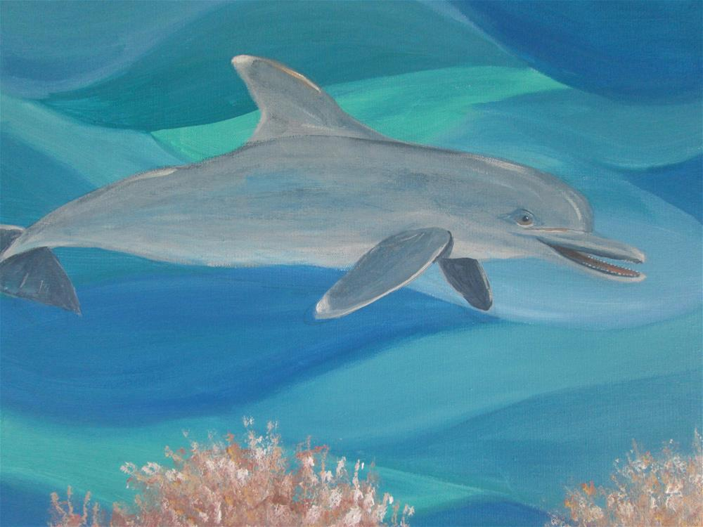 """Playful Dolphin"" original fine art by Chris MacCormack"